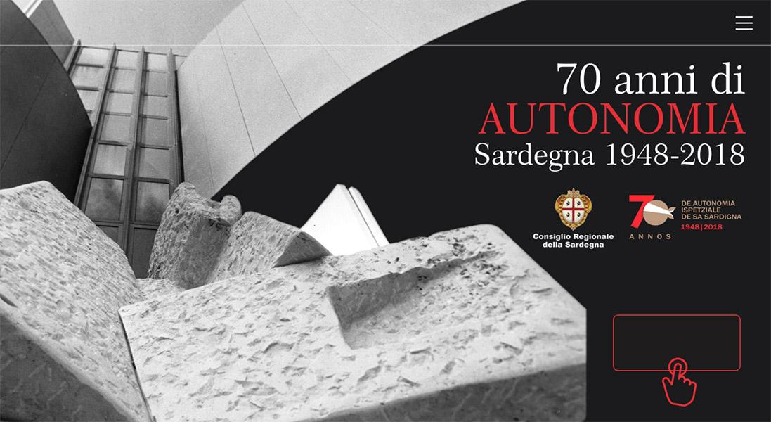 Progetto realizzato in occasione della mostra per i 70 anni di autonomia speciale della Sardegna.