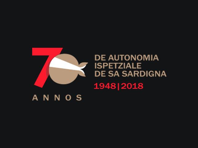 Il logo del 70° anniversario dello Statuto sardo.